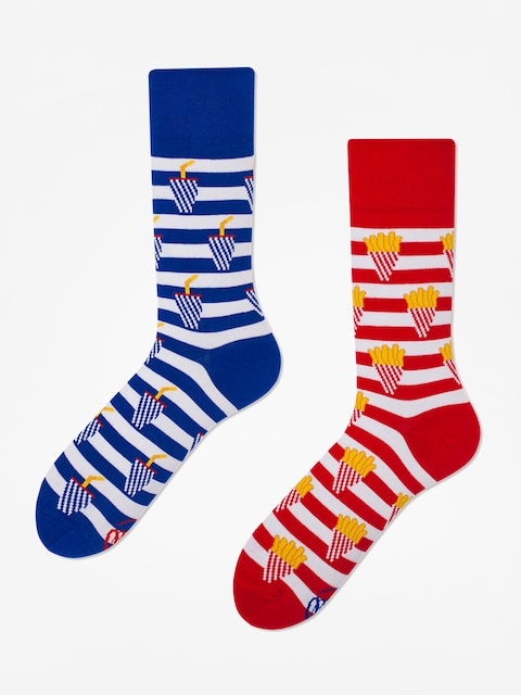 Many Mornings Fries And Soda Socks (red/blue)