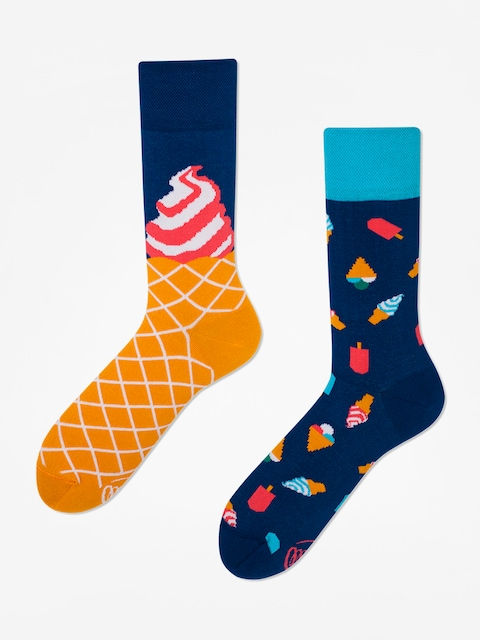 Many Mornings Ice Cream Dream Socks (blue)
