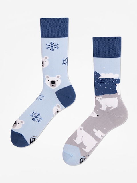 Many Mornings Polar Bear Socks (navy/light blue)