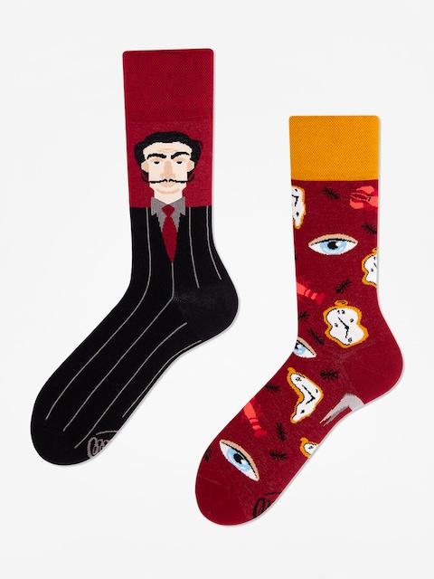 Many Mornings Salvadorable Socks (burgundy)