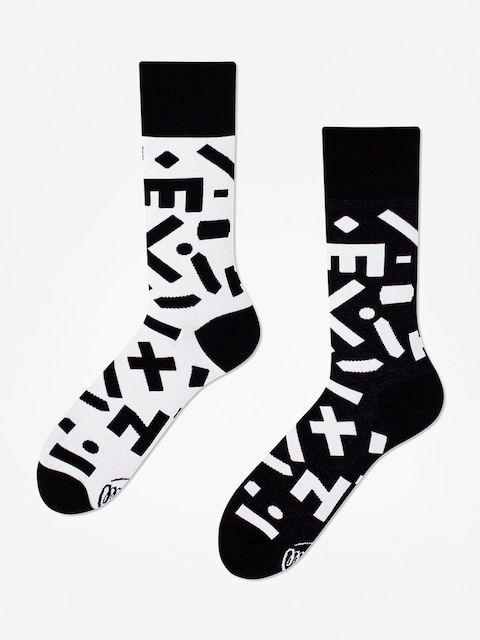 Many Mornings Random Forms Socks (black/white)
