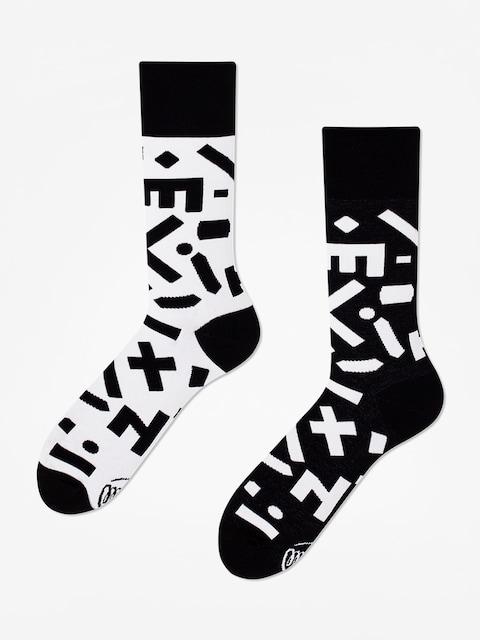 Many Mornings Random Forms Socks (black/white)