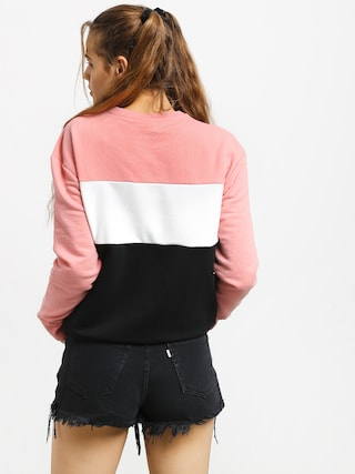 Fila Leah Crew Sweatshirt Wmn (black/quarz pink/bright white)