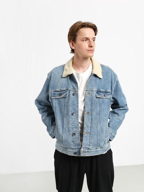 Quiksilver Denim Jacket Sherpa Jacket (blue used)