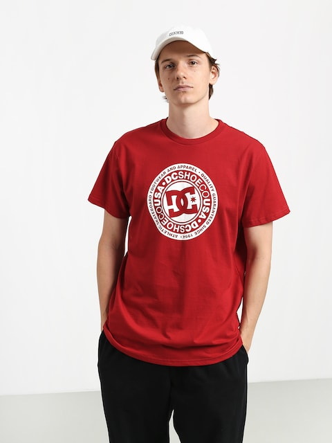 DC Circle Star T-shirt (chili pepper/white)