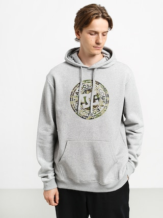 DC Circle Star HD Hoodie (grey heather/camo)