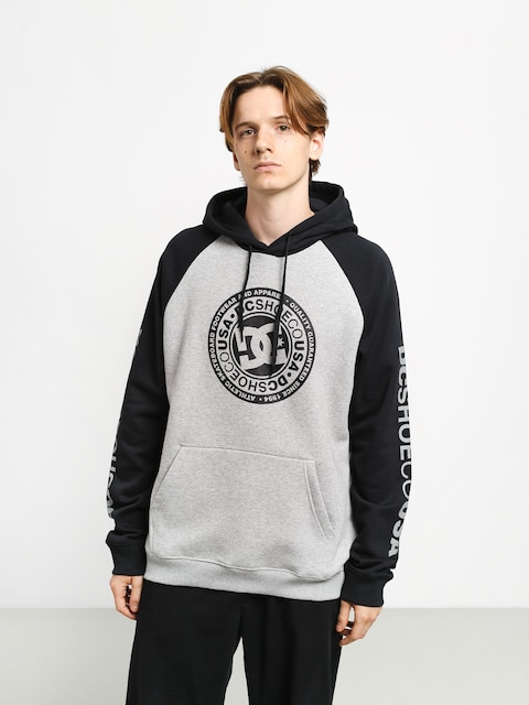 DC Circle Star HD Hoodie (grey heather/black)