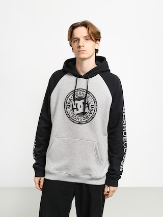 DC Circle Star HD Hoodie (grey heather/black)