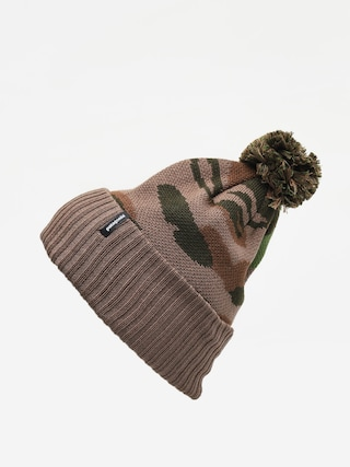 Patagonia Powder Town Beanie (bear witness knit/sage khaki)