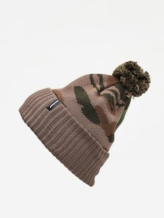 Patagonia Powder Town Beanie (bear witness knit/sage khaki)