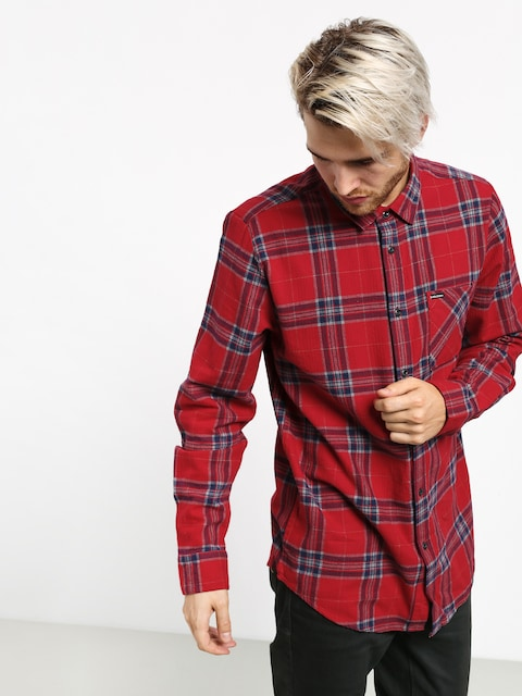 Volcom Caden Plaid Shirt (engine red)