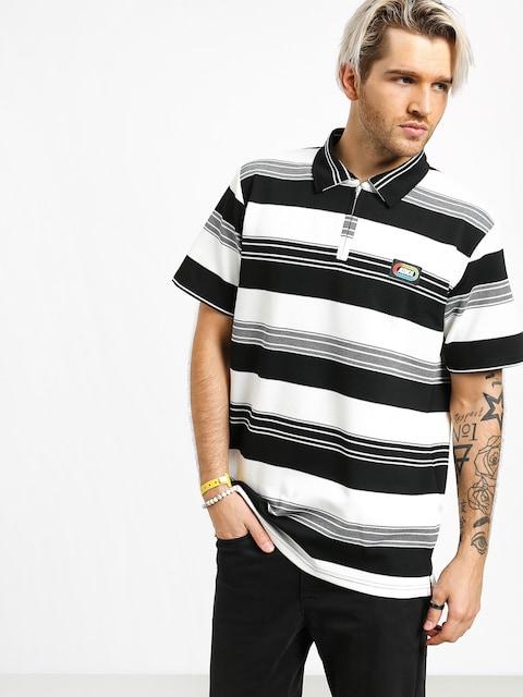 Koka Postcard Polo t-shirt (black)