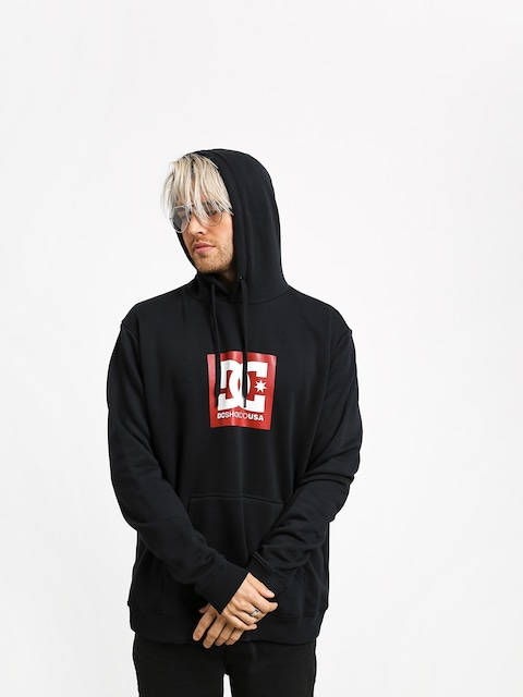 DC Square Star HD Hoodie (black/chili pepper)