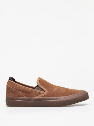 Emerica Wino G6 Slip On Shoes (brown/brown/gum)