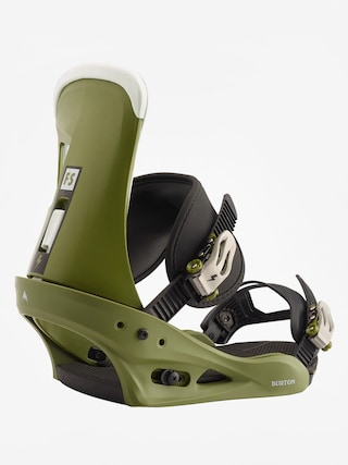 Burton Freestyle Snowboard bindings (camp on green)