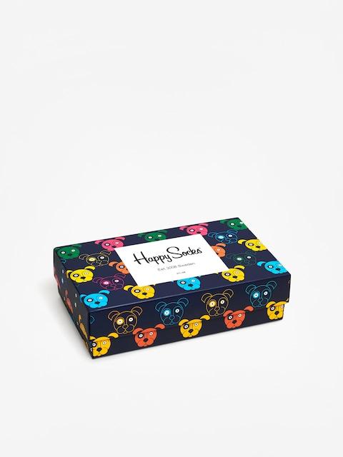 Happy Socks Giftbox Dog Socks (white/navy/blue)