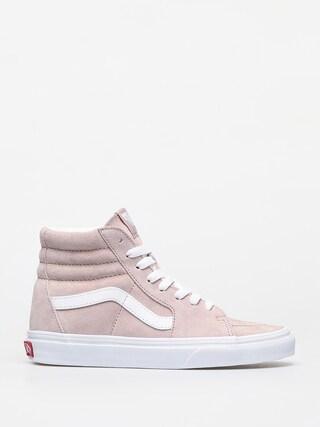 Vans Sk8 Hi Shoes (pig suede/shadow gray/true white)