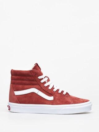 Vans Sk8 Hi Shoes (pig suede/brnt brcktrwht)