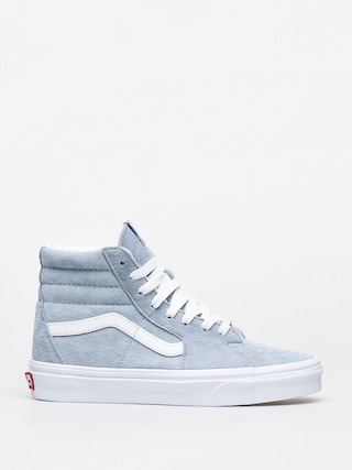 Vans Sk8 Hi Shoes (pig suede/blue fog/true white)
