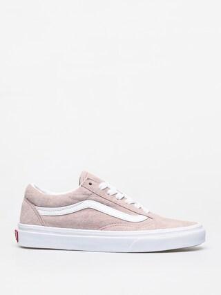Vans Old Skool Shoes (pig suede/shadow gray/true white)