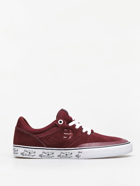 Etnies Marana Vulc Shoes (maroon/white)