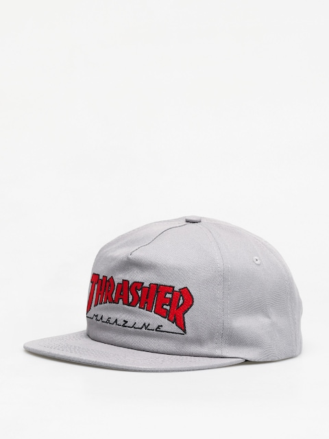 Thrasher Outlined Snap ZD Cap (grey/red)