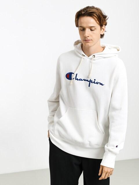Champion Premium Reverse Weave Hooded Big Logo HD Hoodie (wht)