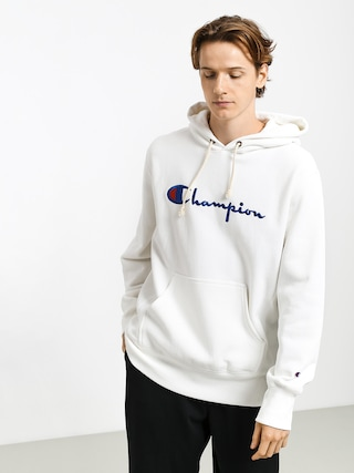 Champion Premium Reverse Weave Hooded Big Logo HD Hoodie (wht)