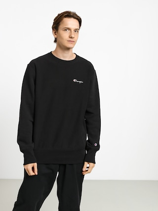 Champion Premium Reverse Weave Crewneck Left Chest Logo Sweatshirt (nbk)