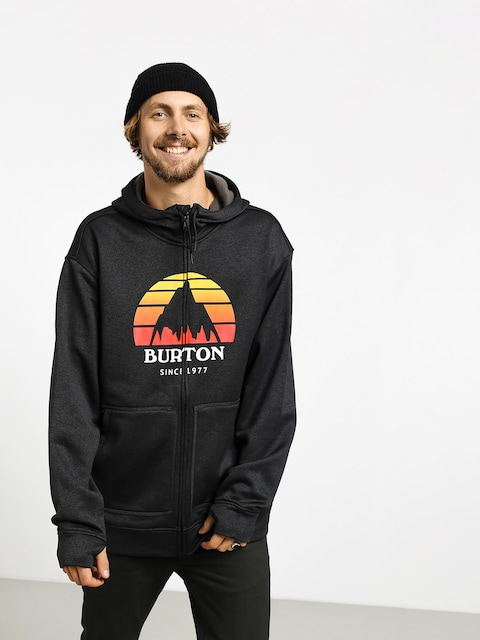 Burton Oak ZHD Active sweatshirt (sunset true blk htr)