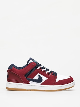 Nike SB Air Force II Low Shoes (team red/obsidian white summit white)