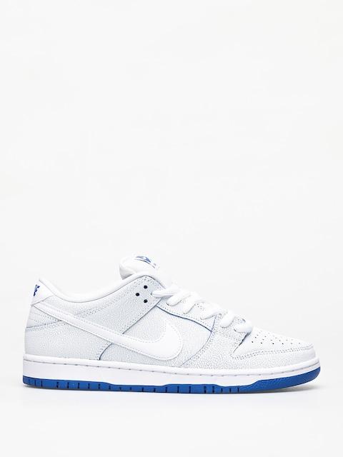 Nike SB Dunk Low Pro Prm Shoes (white/white game royal)
