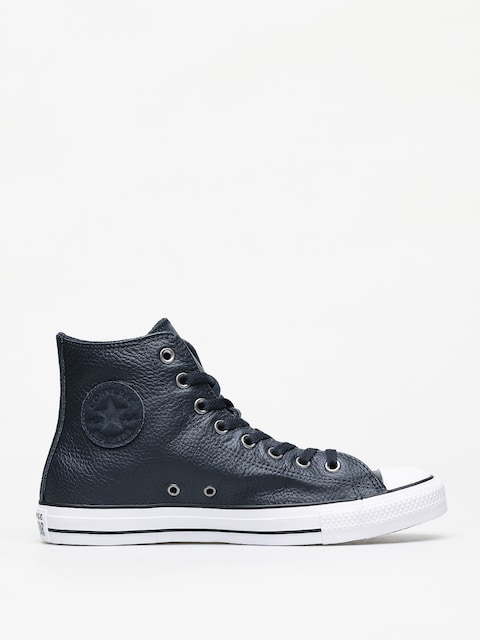 Converse Chuck Taylor All Star Hi Leather Chucks (dark obsidian/white/black)