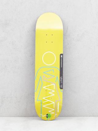 Girl Skateboard Carroll Wayward Deck (yellow)