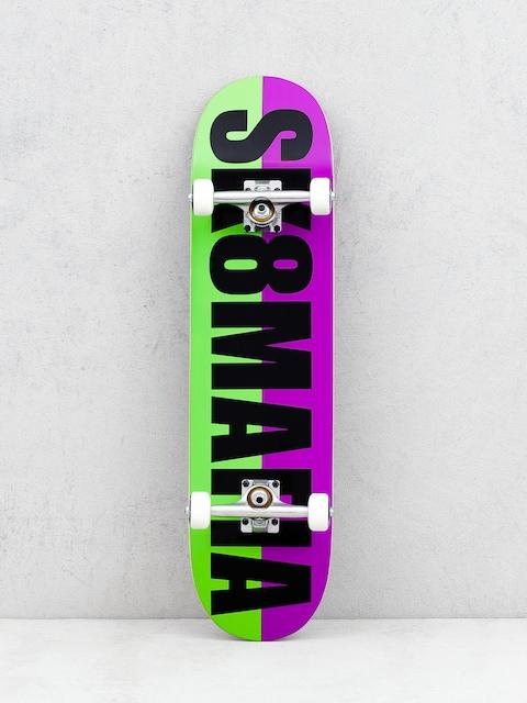 Sk8Mafia Og Logo Split Skateboard (purple/green)