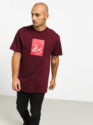 Es Main Block T-shirt (burgundy)