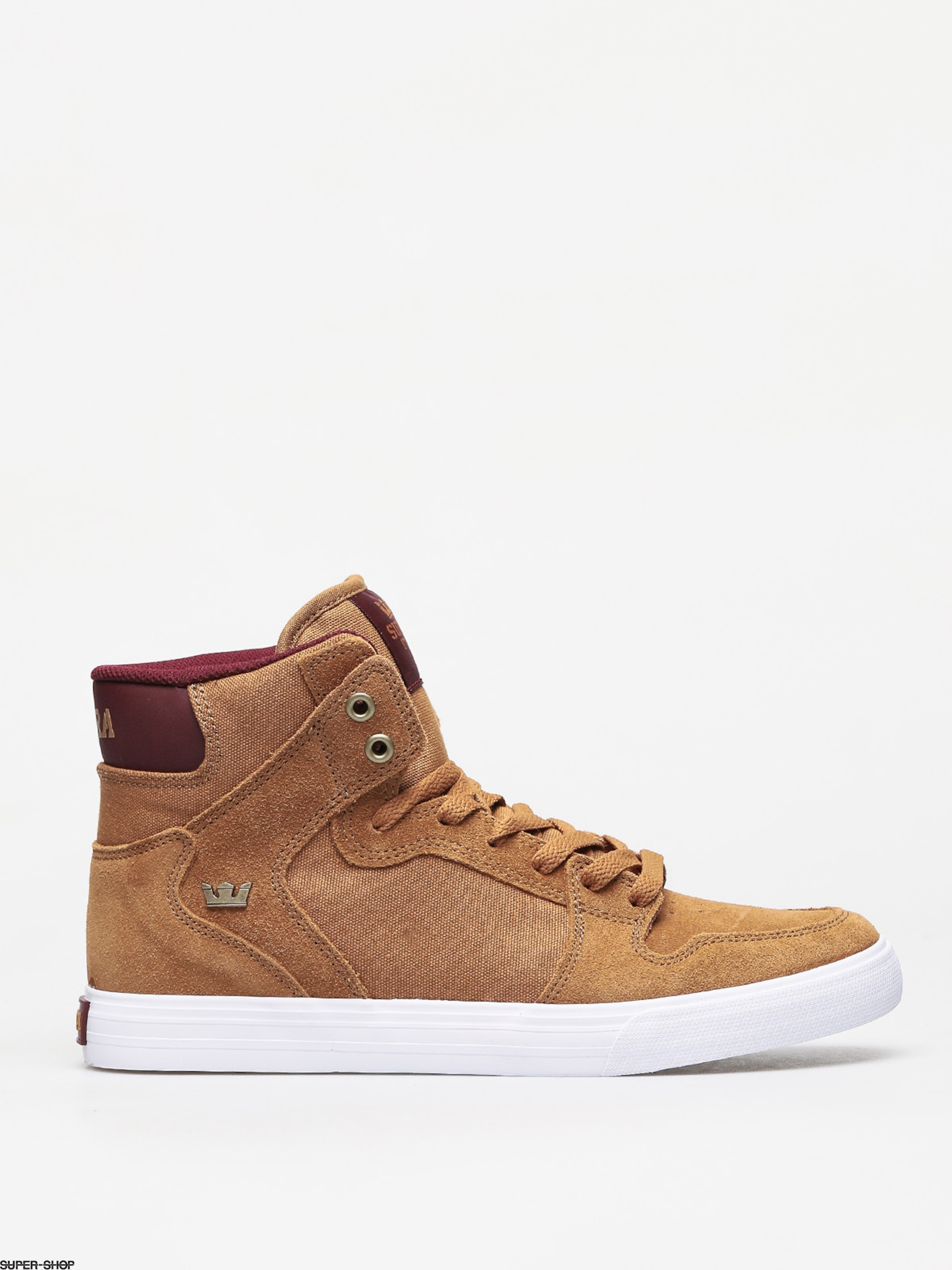 Supra Vaider Shoes (tan/wine white)