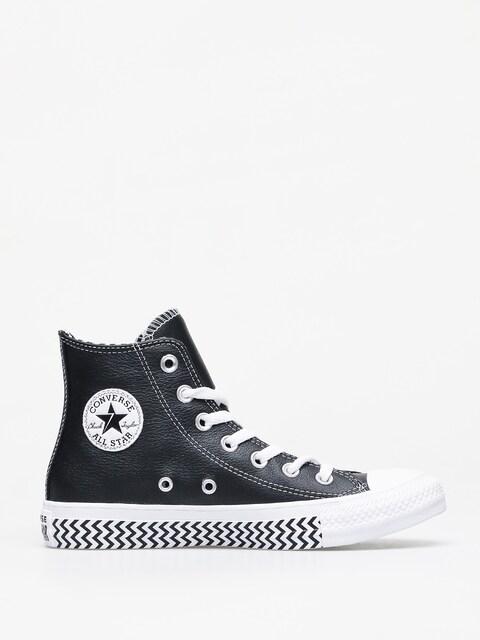 Converse Chuck Taylor All Star Hi Leather Chucks Wmn (black/white/white)