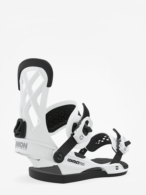 Union Contact Pro Snowboard bindings (white)