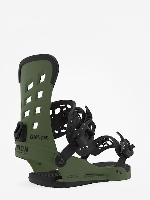 Union Str Snowboard bindings (matte green)