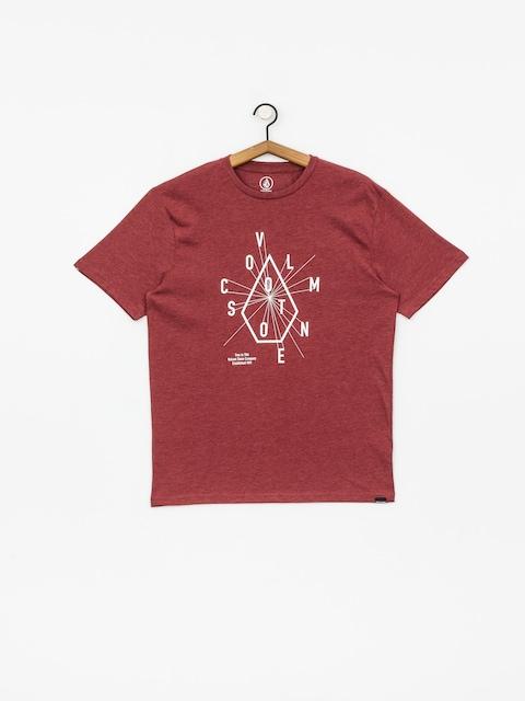 Volcom Eyechart Hth T-shirt (crimson)
