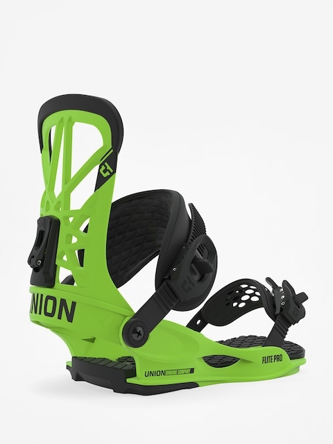 Union Flite Pro Snowboard bindings (acid green)