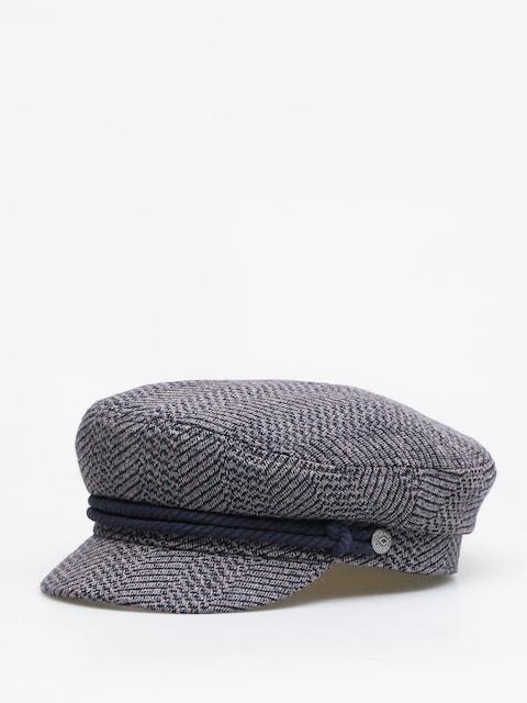 Brixton Bosmanka Fiddler ZD Flat cap (washed navy/mauve)