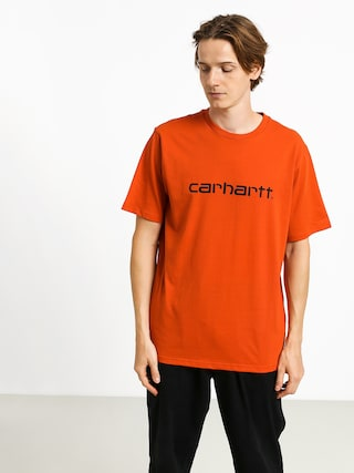 Carhartt WIP Script T-shirt (brick orange/black)
