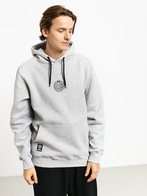 MassDnm Base Small Logo HD Hoodie (light heather grey)