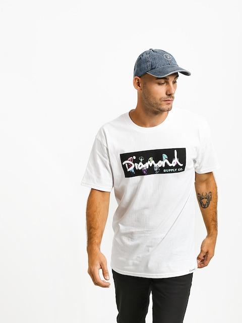 Diamond Supply Co. Color Box Logo T-shirt (white)