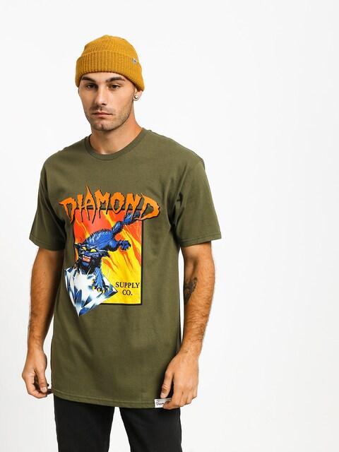 Diamond Supply Co. Greed T-shirt (military green)