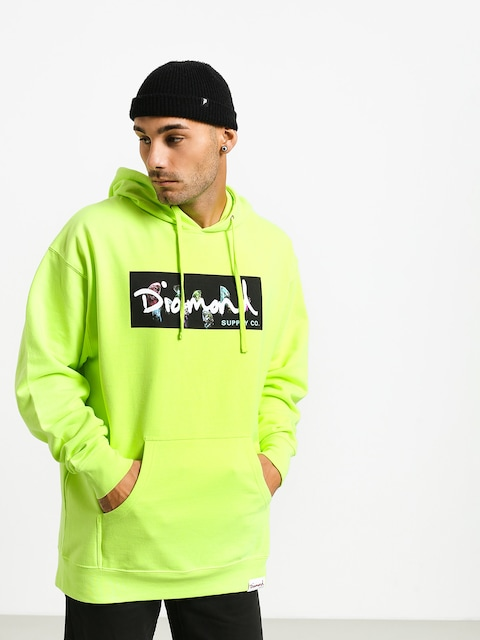 Diamond Supply Co. Color Box Logo HD Hoodie (safety green)