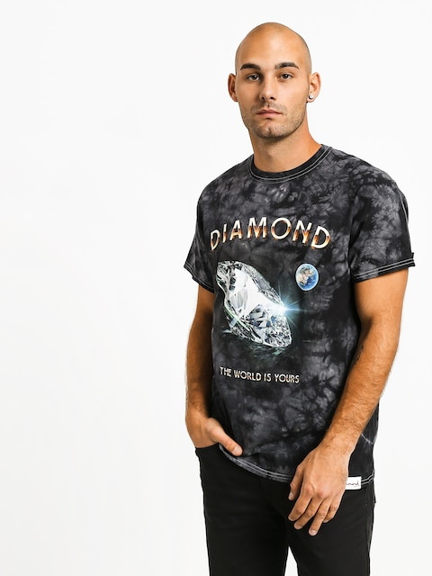 Diamond Supply Co. World Is Yours Crystal Wash T-shirt