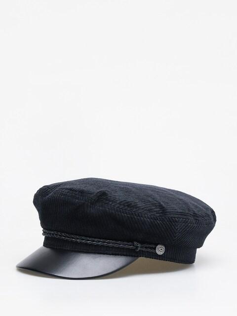 Brixton Fiddler ZD Flat cap (black/black leather)